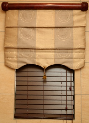 Roman Blind with Rebated Rod